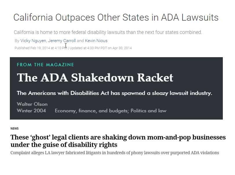 Website ADA Shakedown by Lawyers